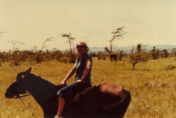 Pamela takes a Boxing Day ride