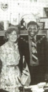 Pamela Hussey with Mayor Nathan Kahara