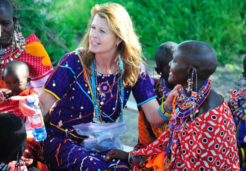 Sample Maasai women's beadwork on display