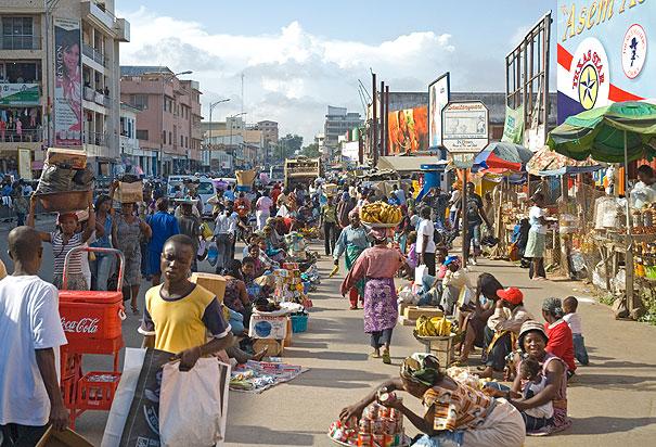 Accra, Ghana, home of dash