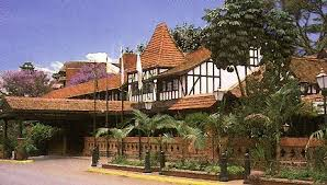 """Old Nairobi: Norfolk Hotel.  A crucial early scene in """"JOSS The Ambassador's Wife"""" occurs on the terrace eatery just to the left of the entry"""