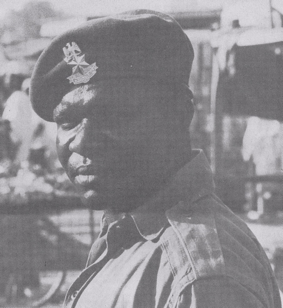 The sole photo Ed Pieratt managed to get of a Nigerian soldier