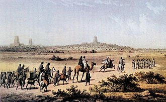 Barth enters Timbuktu,  Both images from Wikipedia